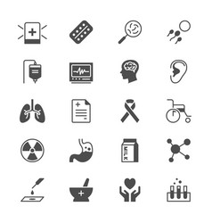 health care flat icons vector image