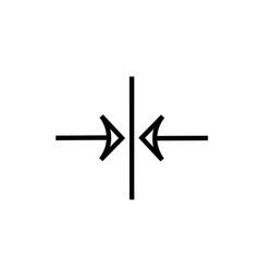Vertical center alignment icon vector