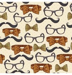 Seamless vintage hipster background vector image