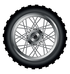 Motorcycle wheel vector image