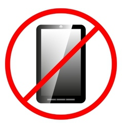 Icon ban cell phone vector image