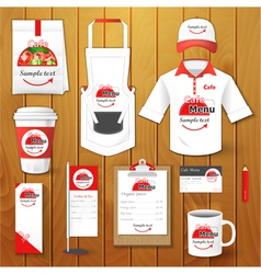 Set of restaurant corporate identity uniform vector