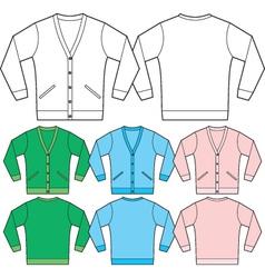 sweatshirt template vector image