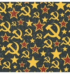 Soviet union signs pattern vector