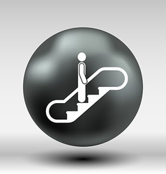 Escalator icon button logo symbol concept vector