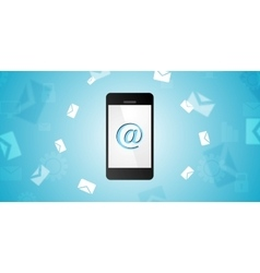Mobile phone and emails background vector