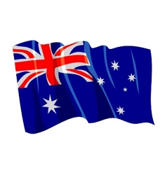 political waving flag of australia vector image