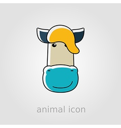 Horse icon farm animal vector