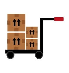 Box on freight car graphic vector