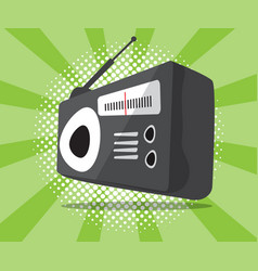 Abstract radio icon with half tone background vector