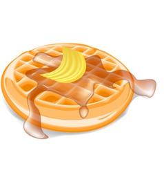 belgium waffles vector image vector image