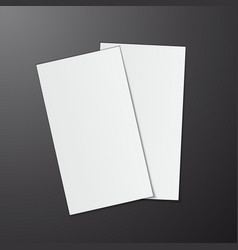 Blank business cards on grey background vector