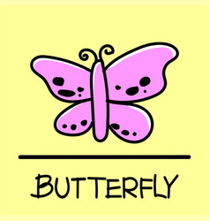 Butterfly hand-drawn style vector