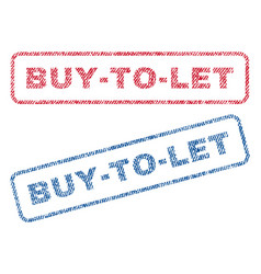 Buy-to-let textile stamps vector