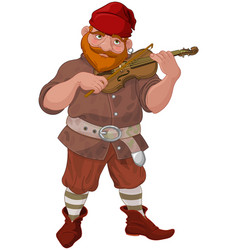 Dwarf playing violin vector