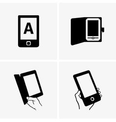 E-book readers vector