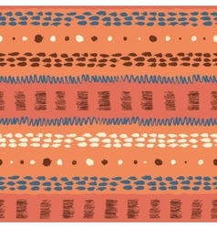 Ethnic grunge seamless pattern vector