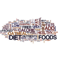Five foods that fight flab text background word vector
