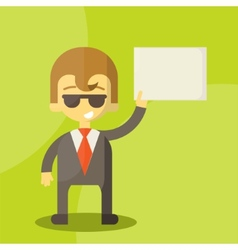 funny cartoon manager in various poses vector image vector image
