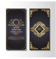 gold background flyer style design template vector image