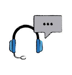 Headphones technology volume music listen vector