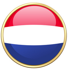 Icon design for flag of netherlands vector