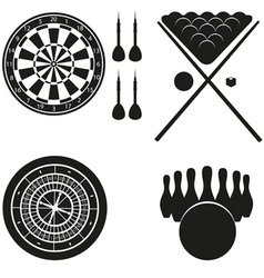 icon of games for leisure black silhouette vector image vector image
