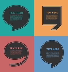 Icon Set of Quotation Speech Bubble templates with vector image vector image