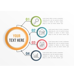 Infographic template with four options vector