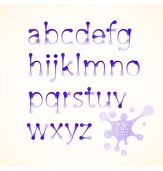 Ink lowercase alphabet vector
