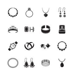Jewelry icon black vector image vector image