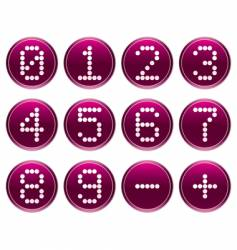 matrix digits icons vector image vector image