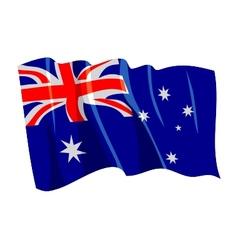 Political waving flag of australia vector