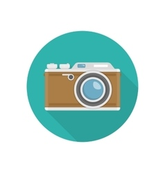 Retro camera icon vector image vector image