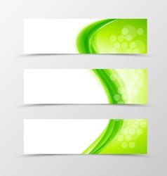 Set of header banner natural design vector