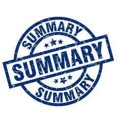 Summary blue round grunge stamp vector