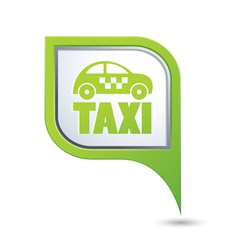 taxi icon on green map pointer vector image vector image