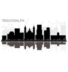 Tegucigalpa honduras city skyline black and white vector