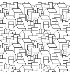 Unusual background with little town or village vector