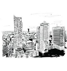 warsaw vector image