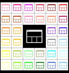 Web window sign felt-pen 33 colorful vector