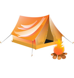 yellow tourist tent vector image
