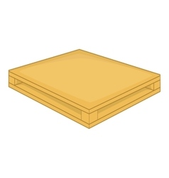 Wooden pallet icon cartoon style vector image
