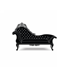 Classic baroque royal bench vector