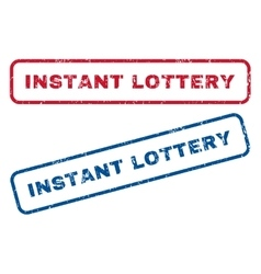 Instant lottery rubber stamps vector