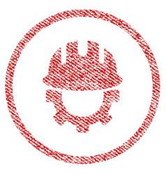 Development hardhat fabric textured icon vector