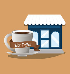 Coffee shop hot beverage image vector