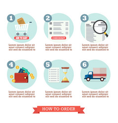 How to order infographic vector