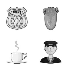 Guard medicine and other monochrome icon in vector