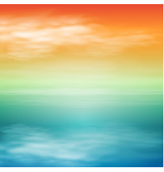 Sea sunset tropical background vector